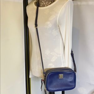 Dooney & Bourke Navy Saffiano Leather Crossbody